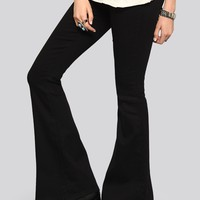 Sadie Bell Bottom Jeans - Black - Bottoms - Clothes | GYPSY WARRIOR