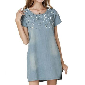Sundress Women's Denim Dress vestidos feminina Jeans Dresses