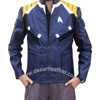Chris Pine Blue Star Trek Beyond Jacket | Desert Leather