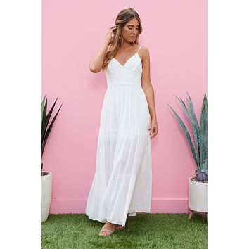 Right This Sway Maxi Dress (Off White)