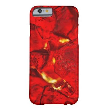 Red colorful glowing jewel glass barely there iPhone 6 case