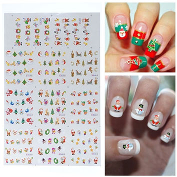 BLE Christmas Snowman Santa Nail Art Water Transfer Decal Sticker = 1946642884