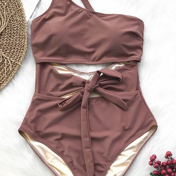 Cupshe Air Of Romance Solid One-piece Swimsuit