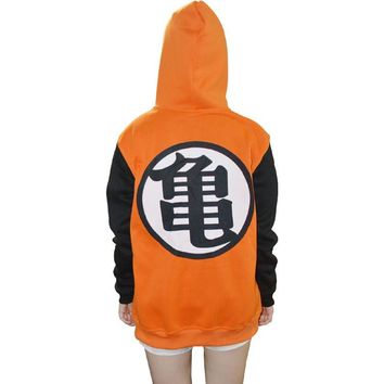 dragon ball dragon balls z jacket hoodie goku kame adult dbz cosplay clothes coat halloween costumes womans outfit mens zipper