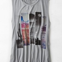 AEO Women's Soft & Sexy Graphic Tank (Grey)