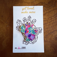 Geometric Heart Enamel Pin 2.0 - Gold