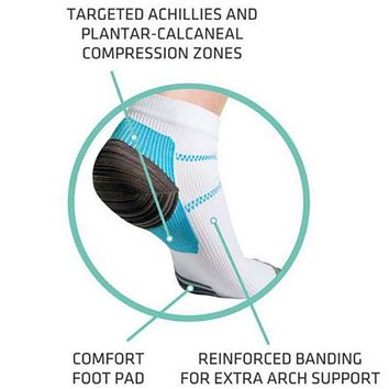 High Quality Foot White Compression Socks For Plantar Soft Fasciitis Heel Spurs Pain Workout Sock For Men  Women
