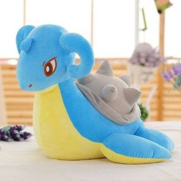 cartoon pokemon Laprasplush toy ,large 70cm doll softh throw pillow surprised birthday gift c1321