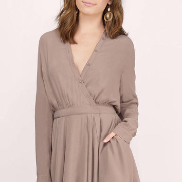 Desert Breeze Button Up Wrap Dress