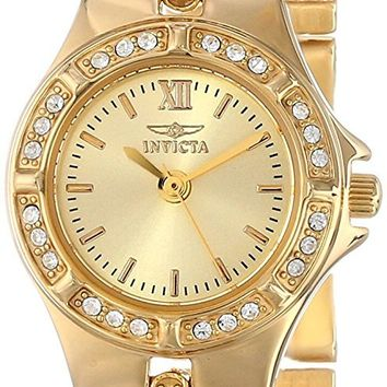 Invicta Women's 0134 Wildflower Collection 18k Gold-Plated Crystal Accented Watch