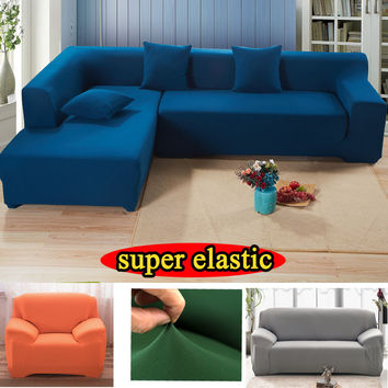 Cover on the corner sofa mordern colorful black white sectional universal stretcher slipcover couch Stretch furniture sofa cover
