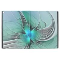 "Abstract With Blue, Modern Fractal Art iPad Pro 12.9"" Case"