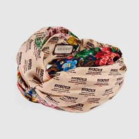 GUCCI Fashion New Women Casual Flower Letter Print Silk Headband
