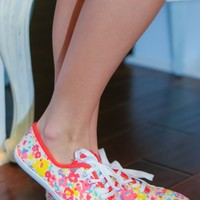 Colorful Confetti Sneakers-Watercolor