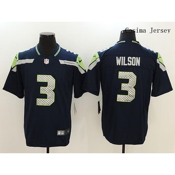 Danny Online Nike NFL Jersey Men's Vapor Untouchable Color Rush Seattle Seahawks #3 Russell Wilson Football Jersey Navy