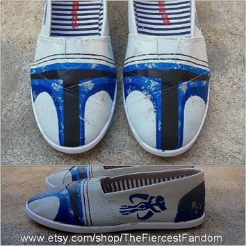 Hand-painted Jango Fett TOMS Shoes