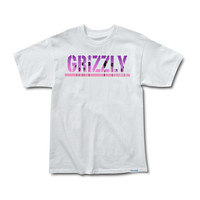 Grizzly Sunset Stamp Tee in White