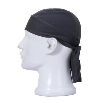Newly Men Summer Sunscreen Pure Color Quick Dry Biker Caps Headscarf Scarves Beanies Breath Scarf Racing Male Hat M035