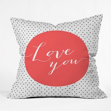 Allyson Johnson Love You Throw Pillow