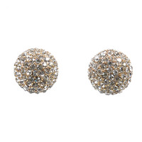 Crystal Rhinestone Cluster Post Earrings
