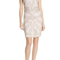 Parker Embellished Mesh Sheath Dress | Nordstrom