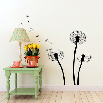Dandelions Flying in the Wind.. Vinyl Wall Decal Sticker Art Decor