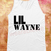 Lil Wayne Shirts American Rapper Shirts Hip Hop Shirts Music Shirts White Shirts Unisex Shirts Vest Tank Top Women Shirt Sleeveless Singlet