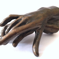 Two Holding Hands Small Statue Rodin Replica 3.75L