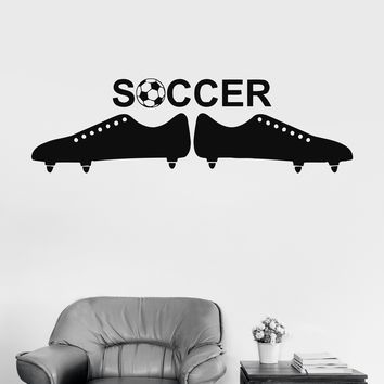 Wall Vinyl Sticker Soccer Ball European Football Team Sports Man Decor Unique Gift (ig3061)
