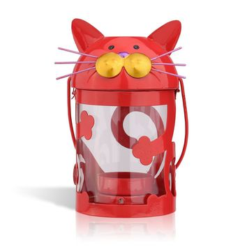 Cat Candle Holder Hurricane Lamp
