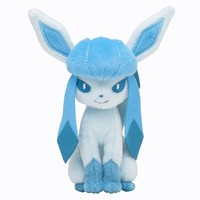 Pokémon Center Original Plush Doll Sitting Trick Pose Glaceon by BabyLand