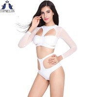 One piece swimsuit  long sleeve Bathing Suit  swimwear women sexy swimwear one piece bathing suits for women