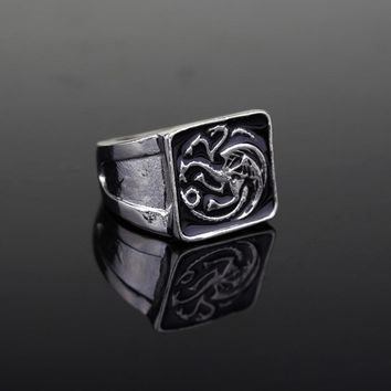 1 Pcs GOT Badge Targaryen Dragon Ring