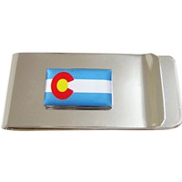Colorado State Flag Pendant Money Clip