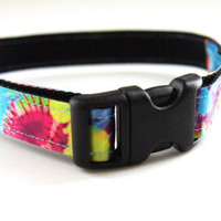 Tie Dye Dog Collar Adjustable Sizes (XS, S, M)