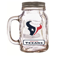16 Oz Mason Jar Houston Texans