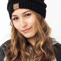 Trendy Comfortable CC Black Knitted Beanies