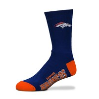 For Bare Feet Denver Broncos Team Color Crew Socks - Adult