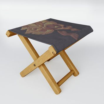 Skull Bloom Folding Stool by drawingsbylam