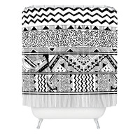 Kris Tate Tribal 3 Shower Curtain