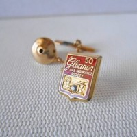 Men's GLEANER Life Insurance Society 50 Red & Goldtone Tie Tack