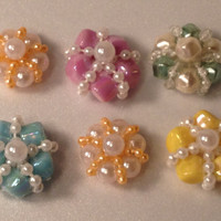 Bling Centers, Flower Centers, Craft Jewelry, Embellishments, Jewel Appliques, Scrapbooking, Accessories, Purses, Beads