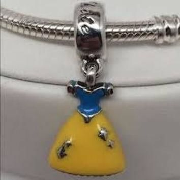 Pandora Charms Authentic Snow White Dress Dangle Charm Bead