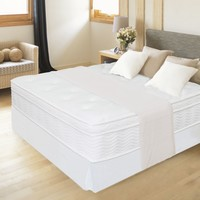 """12"""" Night Therapy Euro Box Top Spring Mattress & Bed Frame Set - Queen"""