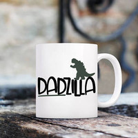 fathers day mug, fathers day gift, funny fathers day gift, fathers day gift from daughter, fathers day gift from son, dadzilla coffee mug