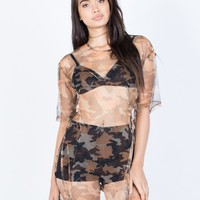 See Through Camo Tunic