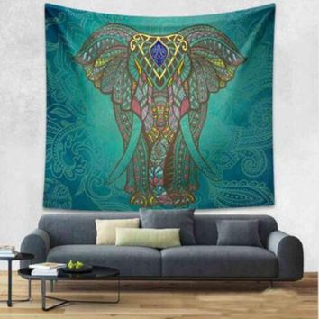 LMF9GW Queen Mandala Tapestry Beach Towel Swimming Indian Wall Hanging Bohemian Hippie Elephant Bedspread Travel Mattress Sleeping Pad