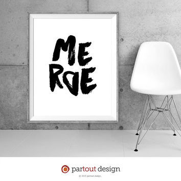 Printable Art merde shit Minimalist art Typographic art Printable French art print French printable French text print printable French quote