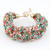 Bohemian style colourful beads charm Bracelets