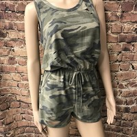 camo distressed romper